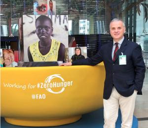 Alessio Miliani, Direttore Generale, presso la sede FAO di Roma