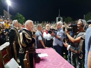 L'annuncio del rigetto del ricorso del rione La Mora, da parte del presidente della Giuria, Mariani Angioni