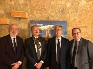 Nella foto, Palmiro Giovagnola - Marcello Morlandi - Florio Faccendi - Umberto Giubboni