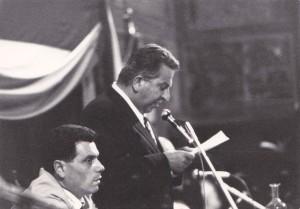 Da sinistra Sergio Angelini con Fabio Fiorelli,primo Presidente del Consiglio regionale dell' Umbria
