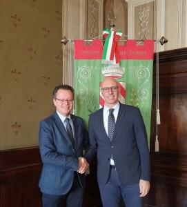 Morroni_con Presciutti_sindaco di Gualdo Tadino