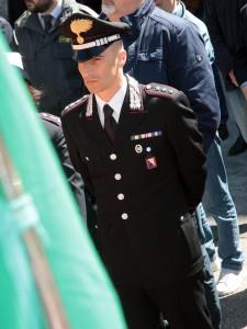 Il Capitano Palermo, comandante la Compagnia dei Carabinieri di Città di Castello