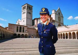Francesca De Luca, vice questore, dirigente del Commissariato di Assisi