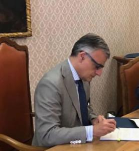 Il Prefetto di Perugia , dott. Claudio Scaraglia