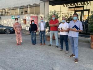 Alessandrini e Nicchi alla Treofan con sigle sindacali