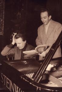 Arturo Benedetti Michelangeli con il direttore Ettore Gracis
