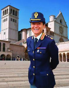 Il dirigente del Commissariato di Assisi, vice Questore Francesca De Luca