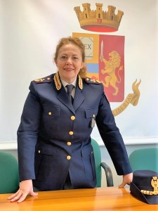 Il nuovo comandante della Polstrada, Vice Questore Luciana Giorgi