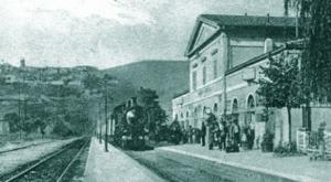 1940, la stazione Narni-Amelia lungo la Orte-Falconara