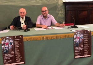 Mons. Fausto Sciurpa e il maestro Adriano Falcioni