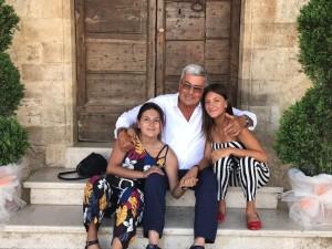 Nazareno Rossi con le sue nipotine