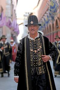 Il Presidente della Quintana, Domenico Metelli