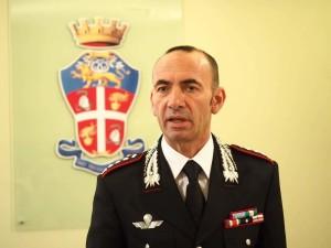 Il comandante provinciale dei Carabinieri, Giovanni Fabi