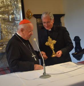 La donazione  della reliquia era avveuia nel settembre 2016