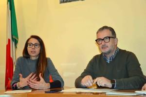 Il sindaco Paolo Fratini e il vice sindaco Elisa Mancini