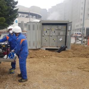 La cabina della struttura emergenza Covid a Perugia